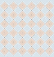 seamless pattern with rhombuses and dots vector image vector image