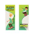 skateboarders on skateboard skateboarding boy or vector image