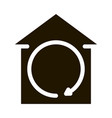 smart city wifi cloud icon glyph vector image vector image