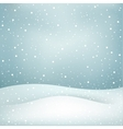 snowfall background vector image vector image