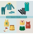 Sport clothing icons set vector image