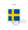 Sweden Flag Postage Stamp vector image vector image