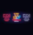 tobacco shop logo cigarettes shop night vector image