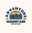 webmountain adventure emblem logo template vector image vector image