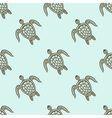 Zentangle tribal stylized turtle seamless pattern