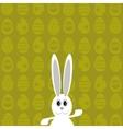 White Easter Rabbit vector image