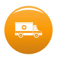 ambulance icon orange vector image vector image