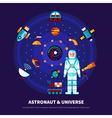 Astronaut And Universe Set vector image vector image