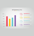 bar chart infographic banner with free space for vector image vector image