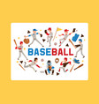 baseball people player man character in catchers vector image vector image