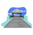 beach resort vector image vector image