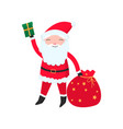 bright and cheerful santa claus in his red suit vector image vector image
