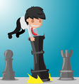 Business Man Worker Play Game Chess vector image vector image