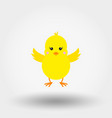 chick icon flat vector image vector image