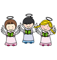 children making communion vector image