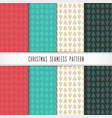 christmas and happy new year pattern set seamless vector image vector image