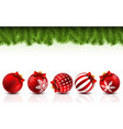christmas greeting card with pine branches and vector image vector image