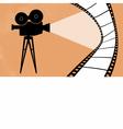 Cinema camera and movie vector image