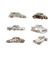 Classic car cartoon clipart collection collection