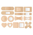 collection different shaped band aids vector image vector image