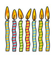 color canddles party icon vector image