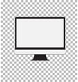 computer monitor isolated on white background vector image vector image