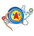 cupid yoyo character cartoon style vector image vector image