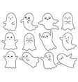cute kawaii ghost spooky halloween ghosts vector image vector image