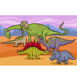 dinosaurs group cartoon vector image vector image