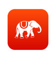 elephant icon digital red vector image vector image