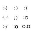 emoji faces keyboard symbols smile symbols vector image vector image
