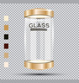 empty golden glass showcase vector image