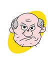 evil old man face vector image vector image