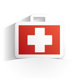 first aid kit icon paper vector image vector image