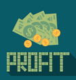 flat money background concept vector image vector image