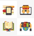 flat online library school library book access vector image vector image