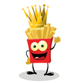 French Fries King vector image vector image
