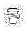 fresh brew coffee cup background image vector image
