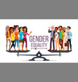 gender equality man woman male female vector image vector image