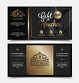 gift voucher royal brand template vector image vector image