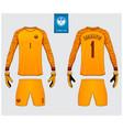 goalkeeper jersey or soccer kit mockup vector image vector image