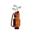 golf bag icon isolated on white background flat vector image vector image