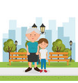 grandmother with grandson characters vector image vector image