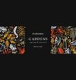 hand sketched autumn design in color elegant vector image vector image
