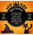 Happy halloween banner with greetings sample text vector image vector image