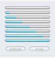loading progress bar web interface with blue vector image