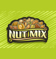 logo for nut mix vector image