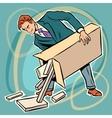man box prefabricated parts designer vector image vector image