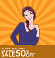 model girl on sale poster vector image