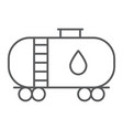 oil tank thin line icon industy and container vector image vector image